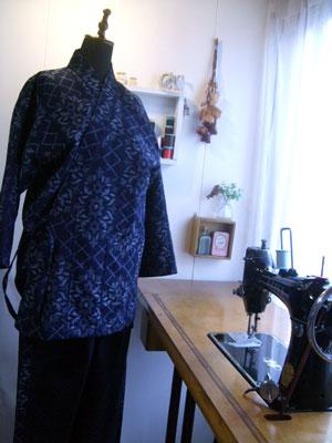 着物リメイクで作務衣を作る!