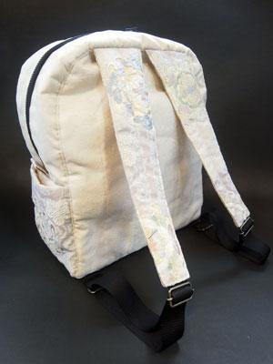 着物リメイクブログ@帯リメイクでリュックサック(デイパック)を作って残布でがま口製作の巻