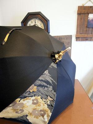 留袖リメイクで日傘を作る…2本製作出来ます。