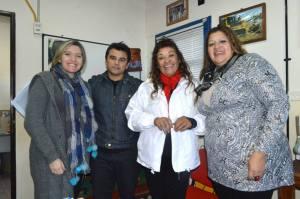 En Avellaneda estuvo desde temprano Natalia Robledo, candidata provincial