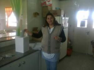 Las compañeras de la educación votando en Brandsen
