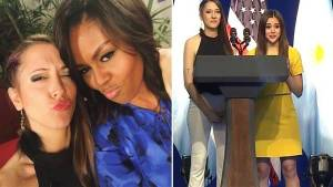 Michelle Obama con la youtuber Diana