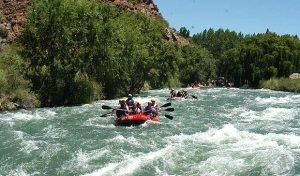 El río Atuel en Mendoza