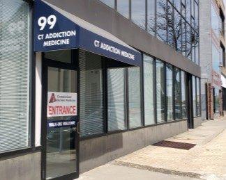 Bridgeport addiction treatment facility entrance