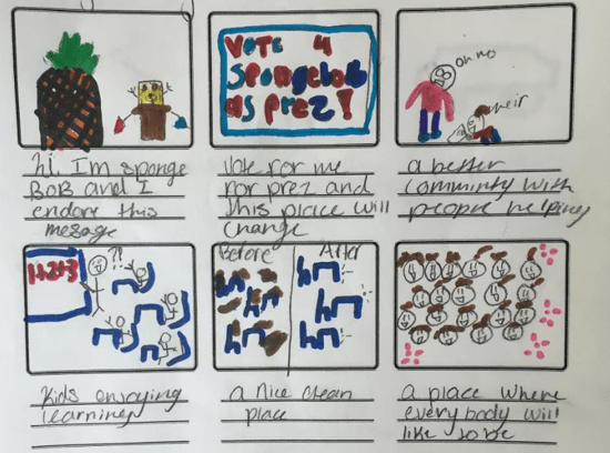 Campaign ads and voter disenfranchisement: middle schoolers take on the 2016 Presidential Election