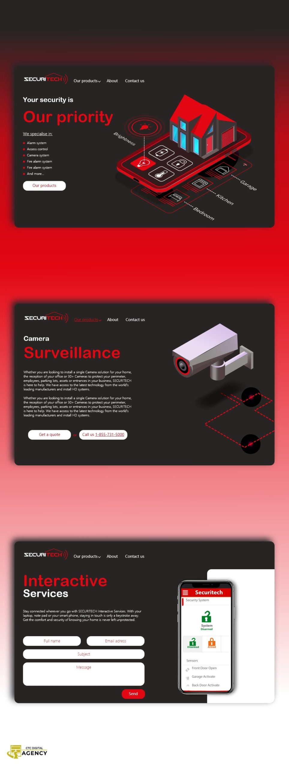 Securitech concept by CTC Digital Agency