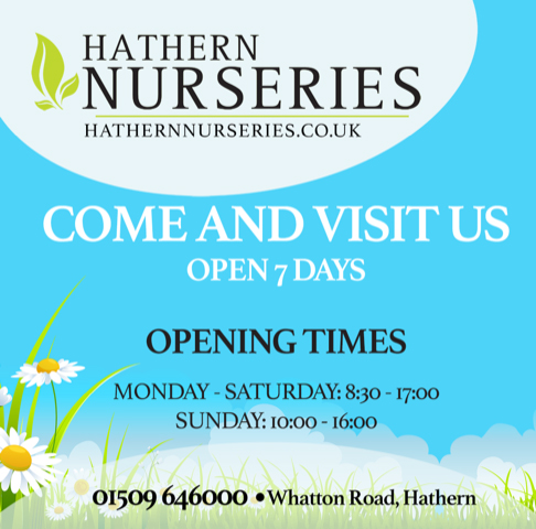Advert for Hathern Nurseries