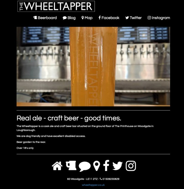 Business details for the Wheeltapper pub in Loughborough