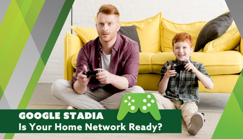 father and son playing stadia