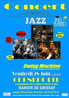 Swing Machine en concert Vendredi 28 juin au Manoir de Grissay - Chênehutte