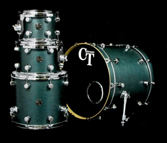4pc Teal Satin Stain