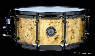 "6x14"" Mapa Burl Natural High Gloss w/ Black Nickel"