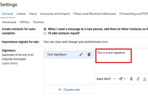 How to change your Gmail signature