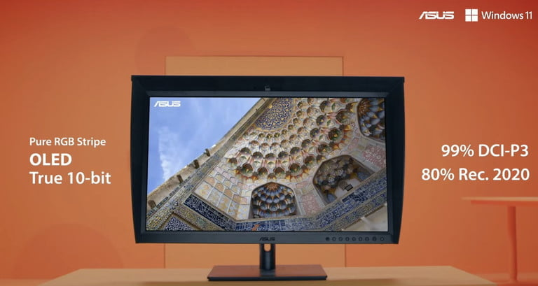 Asus' new color-accurate ProArt OLED monitor comes with built-in colorimeter