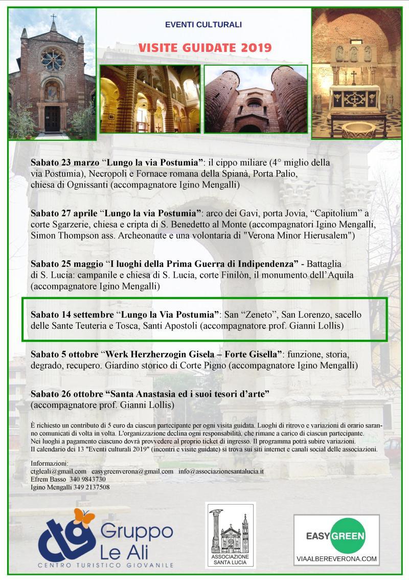 Verona Visita guidata 14 settembre 2019 Centro Turistico Giovanile