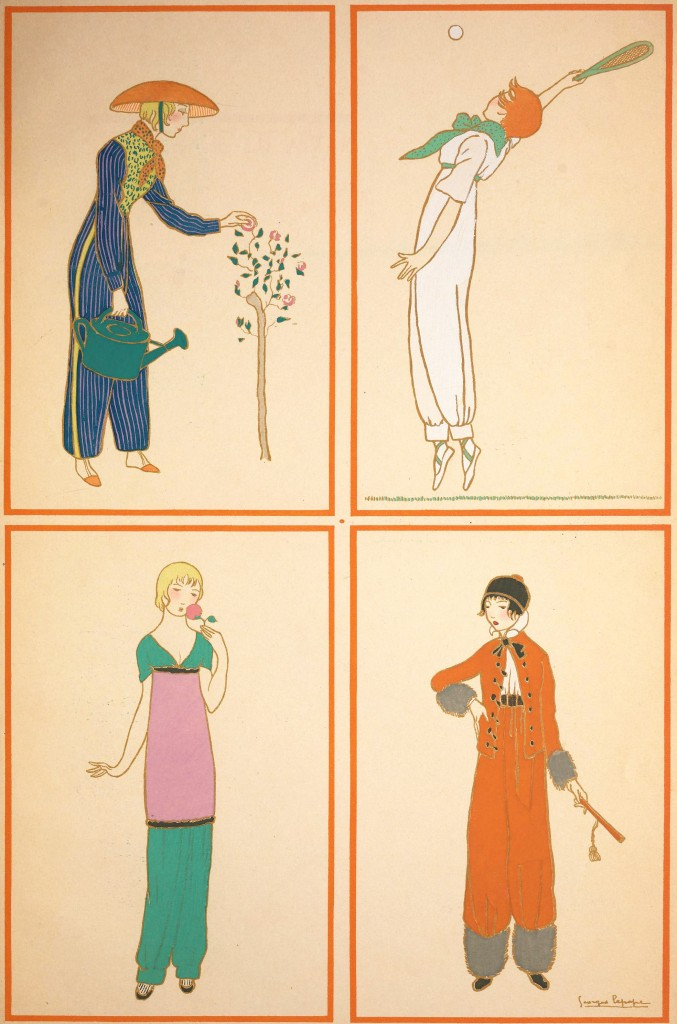 Paul Poiret Fashion Designs with Illustrations by George Lepape circa 1911