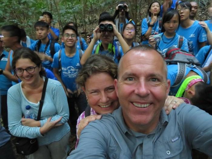 selfie van alle toeristen