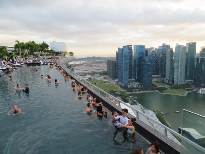 rooftop of Marina Bay Sands