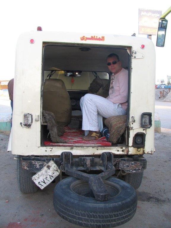 ietwat gammele taxi in Dahab
