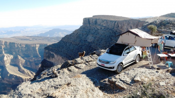 aan de rand van de Grand Canyon