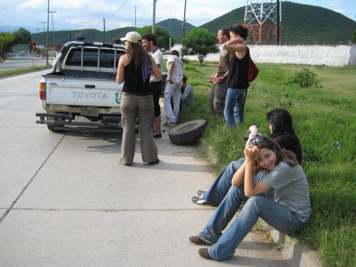 autopech op de terugweg