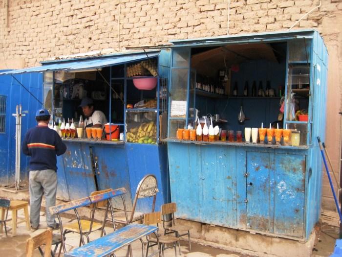 marktkraampje in Tupiza