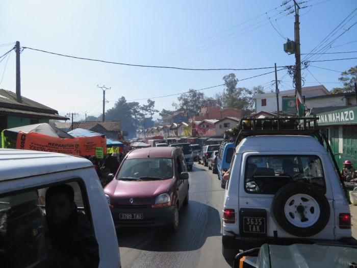 drukte in de hoofdstad Tana - Madagaskar
