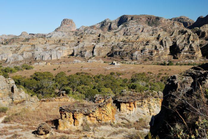uitzicht over Isalo National Park