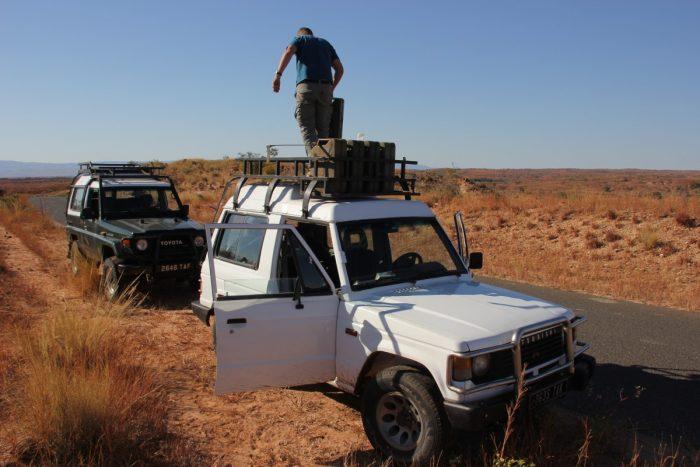 tanken onderweg in Madagaskar
