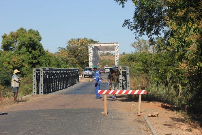 Afgesloten brug in Madagaskar