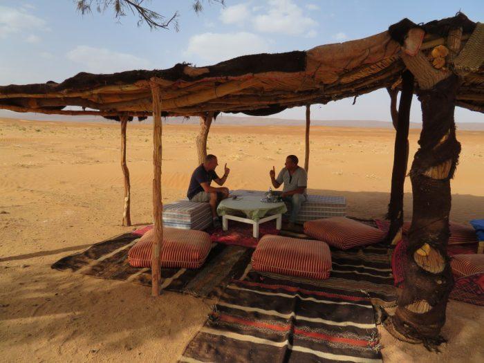 overnachten in de Sahara