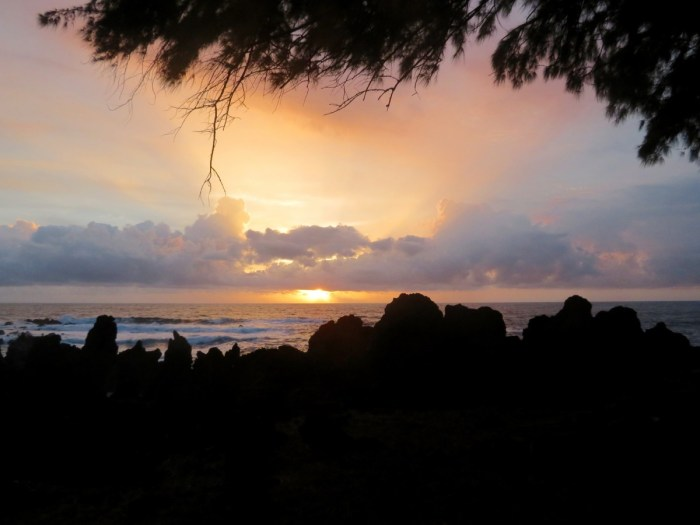 Zonsopkomst bij Laupahoehoe