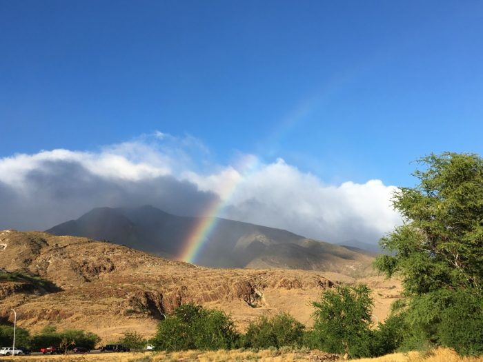 Regenboog bij Lahaina