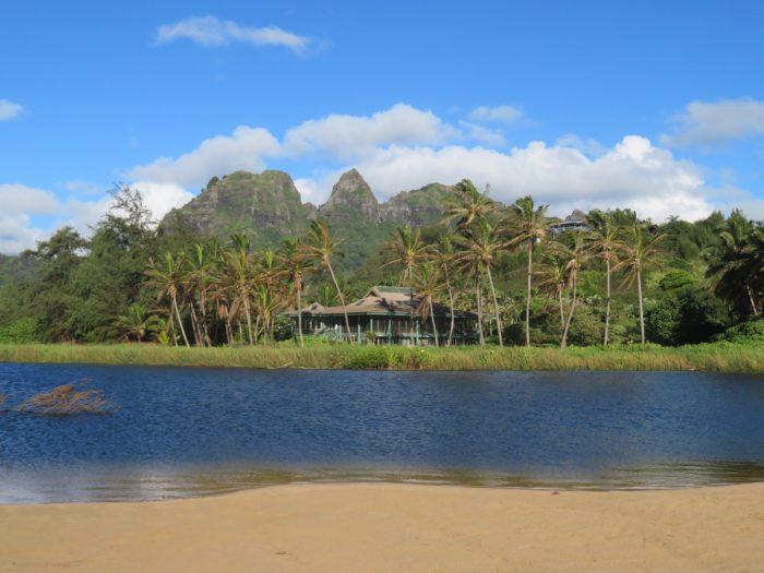 Uitzicht vanuit Kumu camp