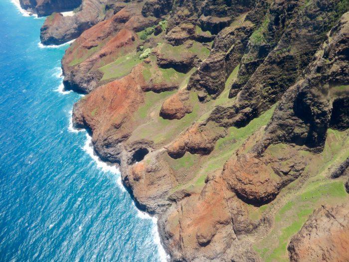 Napali Coast vanuit helikopter