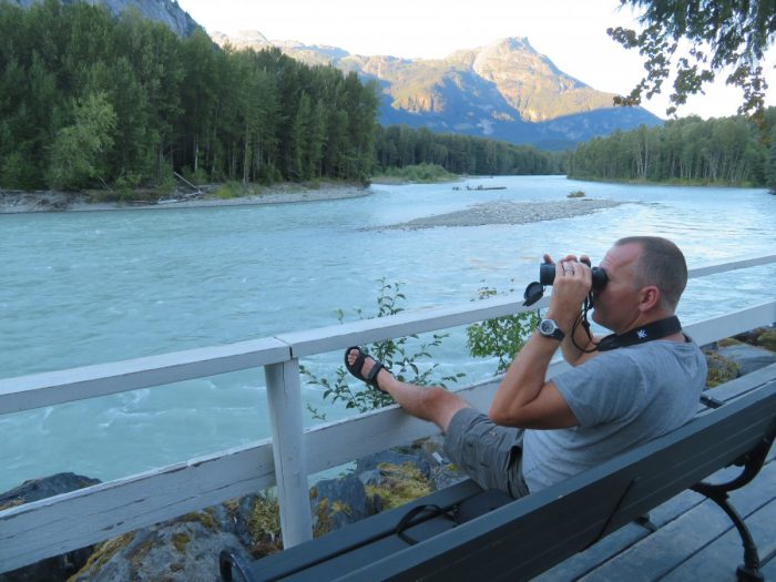 Viewing deck aan rivier