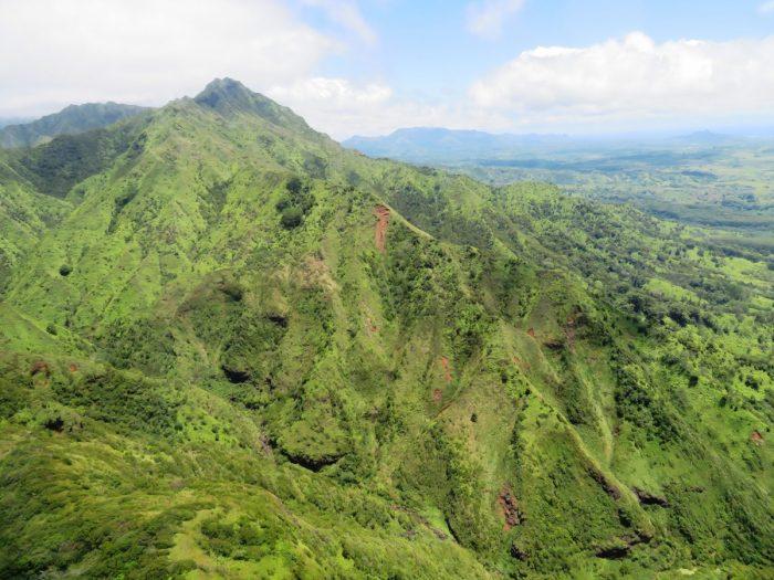 De groene bergen van Kauai
