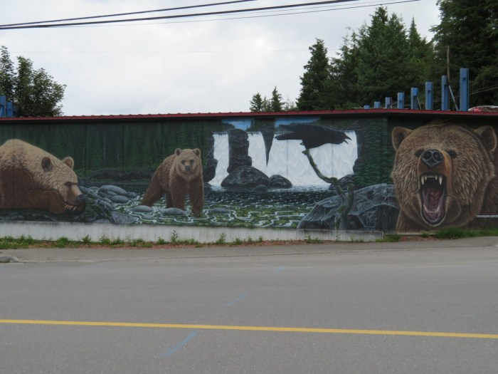 muurschildering in Prince Rupert