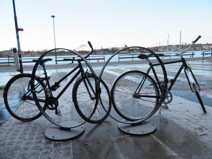 Op de fiets door Stockholm