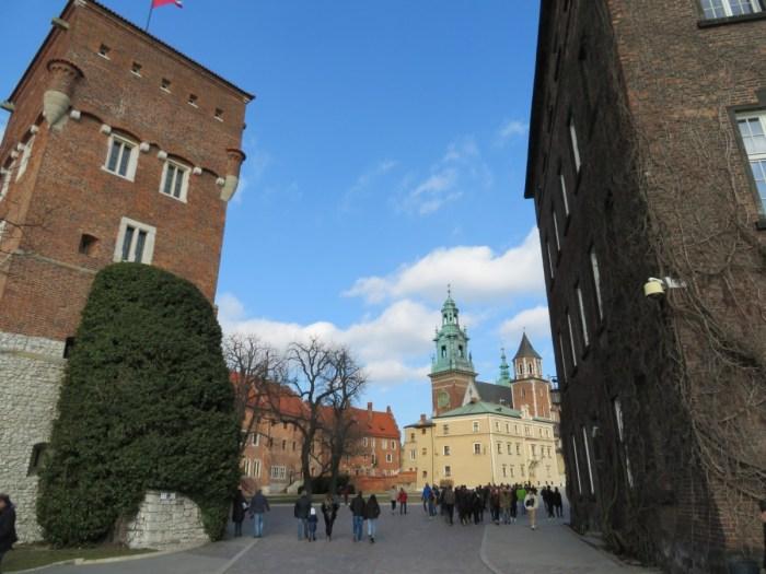 entree van kasteel van Wawel, Krakau