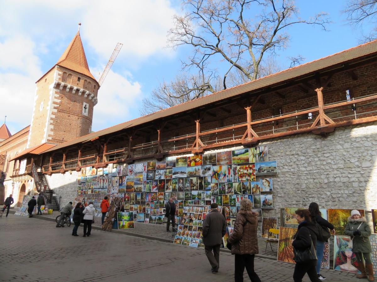 stadsmuur, Krakau