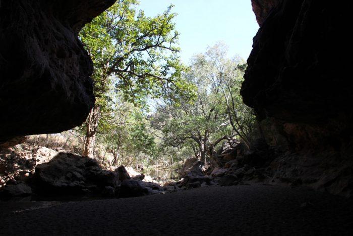 Einde van Tunnel Creek