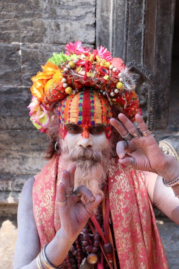 Sadhoe in Pashupatinath tempel