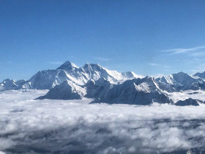 vlucht over de mount everest