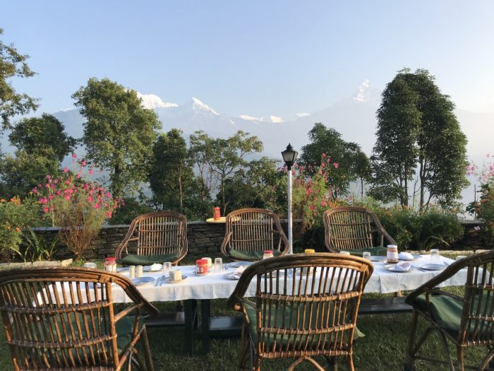 ontbijt in Annapurna, Nepal