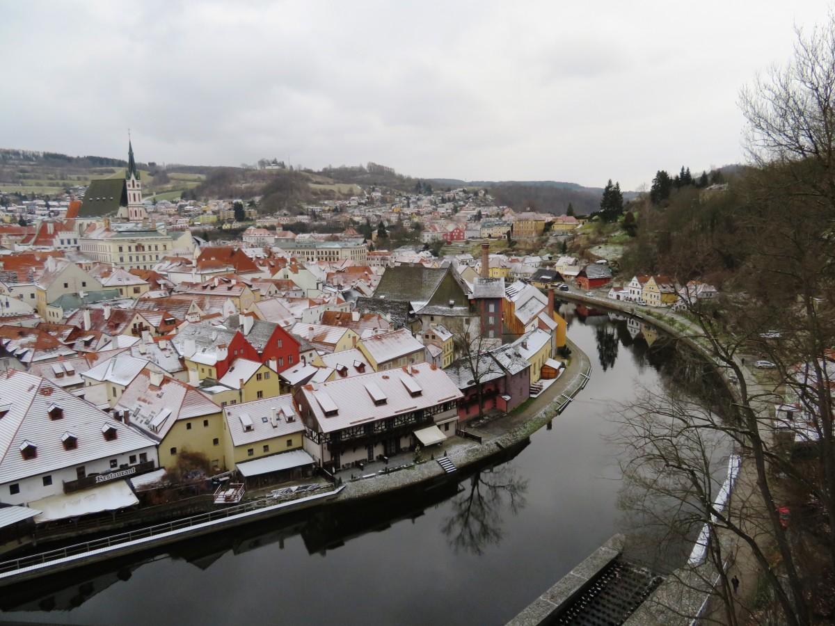 stadsgezicht Český Krumlov