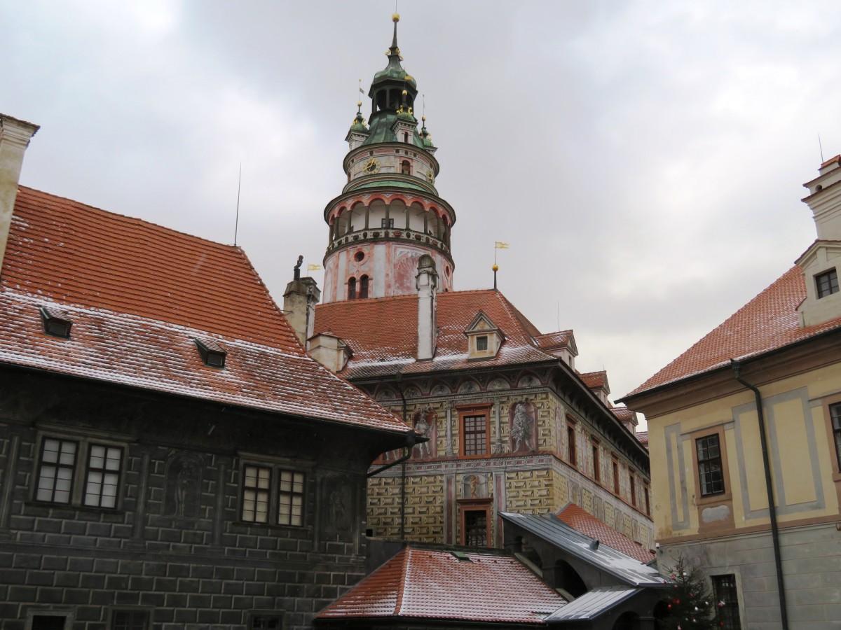 middeleeuwse gebouwen Český Krumlov