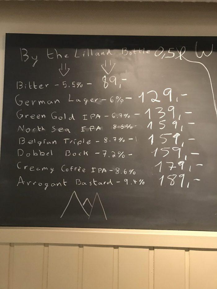 bierprijzen in Noorwegen