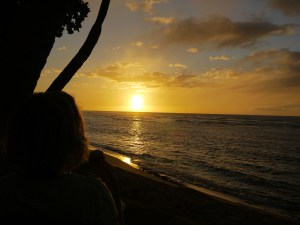 our last sunset on oahu and last Ka'ala cupcake