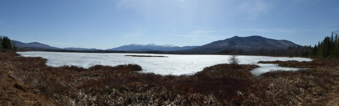 Pano of  Cherry Pond and Presidentials
